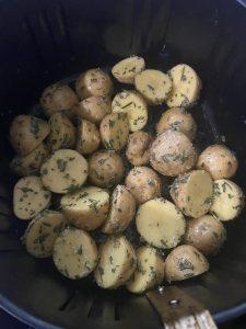seasoned baby potatoes in the air fryer